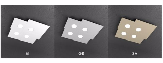 PLAFONIERA LED GX53 MODERNA QUADRATA GRIGIO TOP LIGHT PLATE
