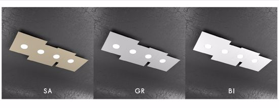PLAFONIERA LED 4 LUCI GX53 GRIGIO DESIGN PER CUCINA TOPLIGHT PLATE