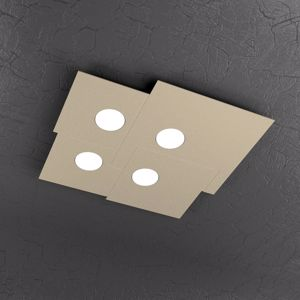 PLAFONIERA LED DESIGN PER CUCINA MODERNA COLORE SABBIA TORTORA TOP LIGHT PLATE