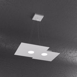 LAMPADARIO PER CUCINA GX53 LED GRIGIO MODERNO TOPLIGHT PLATE