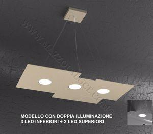 LAMPADARIO CUCINA MODERNA LED GX53 SABBIA DOPPIA ILLUMINAZIONE TOP LIGHT PLATE