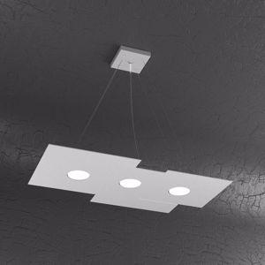 TOP LIGHT PLATE LAMPADARIO LED GRIGIO DESIGN MODERNO DA SOGGIORNO