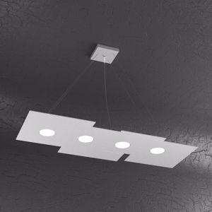 TOPLIGHT PLATE LAMPADARIO PER CUCINA MODERNO GX53 LED GRIGIO DESIGN SQUADRATO