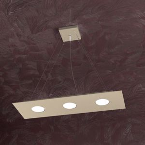 LAMPADARIO MODERNO LED 3 LUCI SABBIA RETTANGOLARE TOP LIGHT AREA