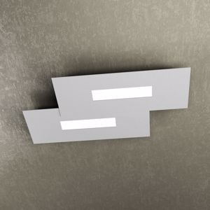 WALLY TOP LIGHT PLAFONIERA LED MODERNA GRIGIO PER UFFICIO