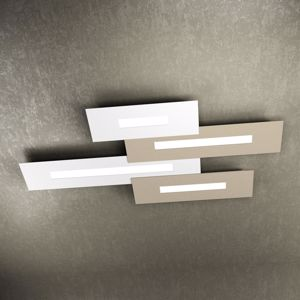 TOP LIGHT WALLY PLAFONIERA LED BIANCA SABBIA DESIGN MODERNA