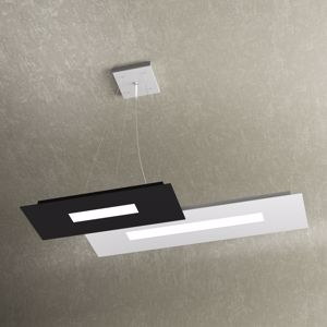 WALLY TOP LIGHT LAMPADARIO PER CUCINA MODERNA LED 30W BIANCO E NERO