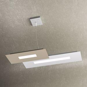 LAMPADARIO DA CUCINA LED 30W BIANCO E SABBIA DESIGN MODERNO WALLY TOPLIGHT