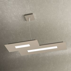 LAMPADARIO MODERNO LED 30W COLORE SABBIA DESIGN TOP LIGHT WALLY