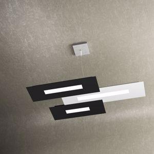 LAMPADARIO A LED DESIGN PER SOGGIORNO MODERNO WALLY TOPLIGHT 45.5W BIANCO NERO