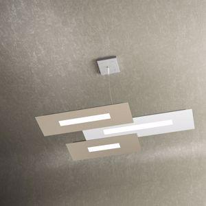 TOP LIGHT WALLY LAMPADARIO MODERNO LED 45.5W BIANCO SABBIA PER SOGGIORNO