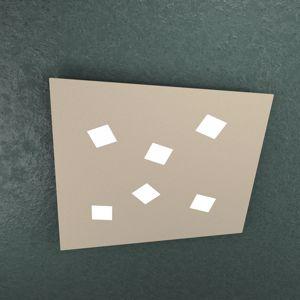 TOP LIGHT NOTE PLAFONIERA LED 73CM 6 LUCI SABBIA DESIGN FUORI SQUADRA
