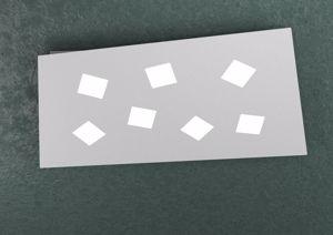 TOP LIGHT NOTE PLAFONIERA LED 7 LUCI GRIGIO DESIGN FUORI SQUADRA
