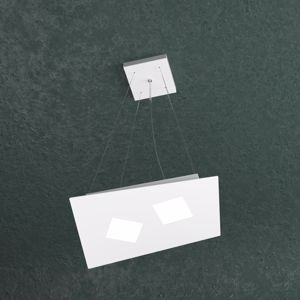 TOPLIGHT NOTE LAMPADARIO LED 2 LUCI BIANCO DESIGN MODERNO PER CUCINA