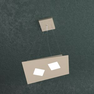TOP LIGHT NOTE LAMPADARIO LED SABBIA 2 LUCI DESIGN MODERNO