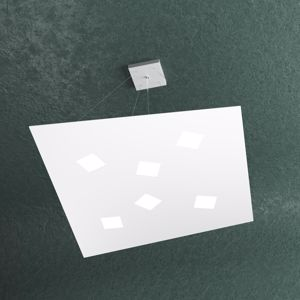 TOP LIGHT NOTE LAMPADARIO LED BIANCO 6 LUCI DESIGN MODERNO PER SOGGIORNO