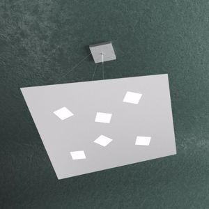TOPLIGHT NOTE GRIGIO LAMPADARIO LED 6 LUCI DESIGN MODERNO PER SOGGIORNO