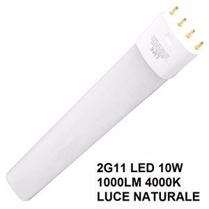 LAMPADA LIFE 2G11 LED 10W 1000 LUMEN 4000K LUCE NATURALE COD. 39.940410N