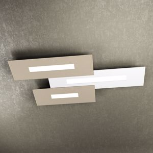 PLAFONIERA LED 80CM BIANCO E SABBIA DESIGN MODERNO WALLY TOP LIGHT