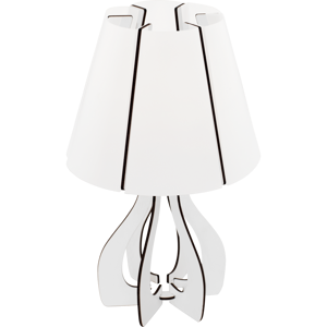 ABAT-JOUR LAMPADA DA COMODINO MODERNA LEGNO BIANCO PARALUME IN PLASTICA BIANCO