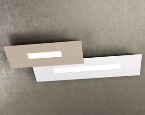 TOP LIGHT WALLY PLAFONIERA LED 71CM BIANCO SABBIA