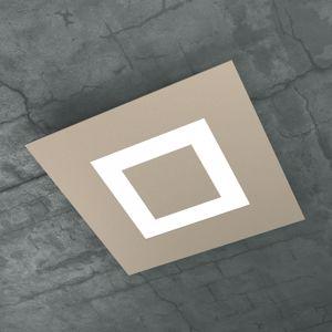 TOP LIGHT CARPET PLAFONIERA LED 40W 39CM SABBIA DESIGN SQUADRATO