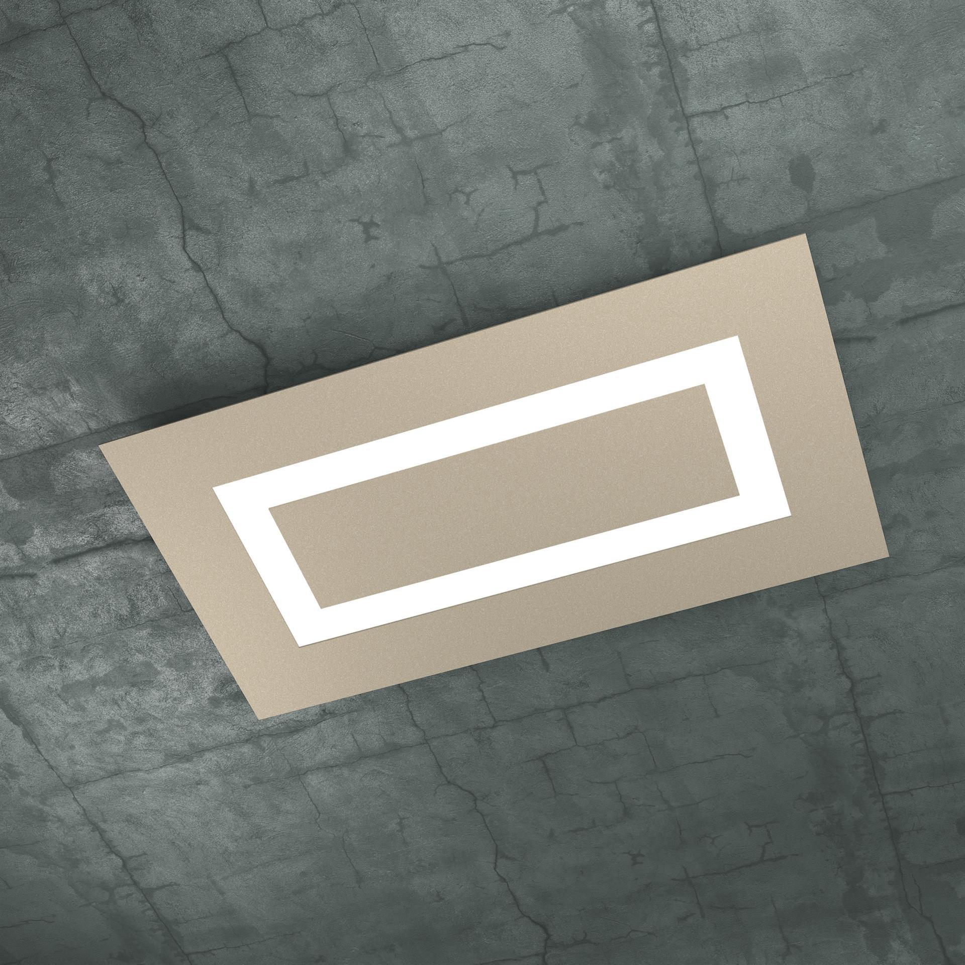 Plafoniera Moderna Led.Carpet Top Light Plafoniera Moderna Led 80w Sabbia
