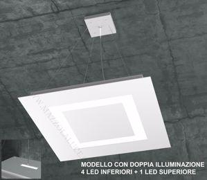 LAMPADARIO MODERNO LED TOPLIGHT CARPET BIANCO DOPPIA ILLUMINAZIONE