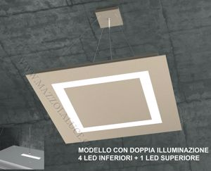 TOP LIGHT CARPET SABBIA LAMPADARIO LED 95.5W 58CM DOPPIA ILLUMINAZIONE