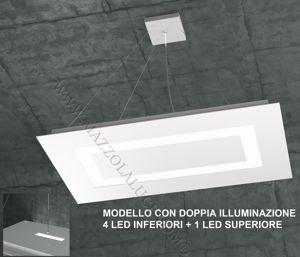 TOPLIGHT CARPET LAMPADARIO LED 95.5W BIANCO DOPPIA ILLUMINAZIONE PER SALONE