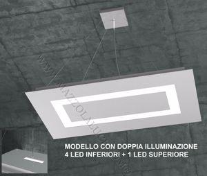 CARPET TOPLIGHT LAMPADARIO LED 95.5W GRIGIO MODERNO DOPPIA ILLUMINAZIONE
