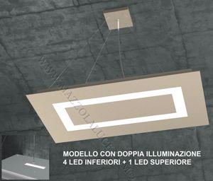 TOPLIGHT CARPET SABBIA LAMPADARIO MODERNO LED 95.5W DOPPIA LUCE