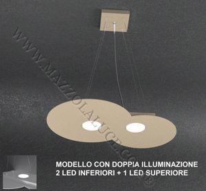 LAMPADARIO PER CUCINA LED 2+1 SABBIA LUCI DOPPIA ILLUMINAZIONE TOPLIGHT CLOUD