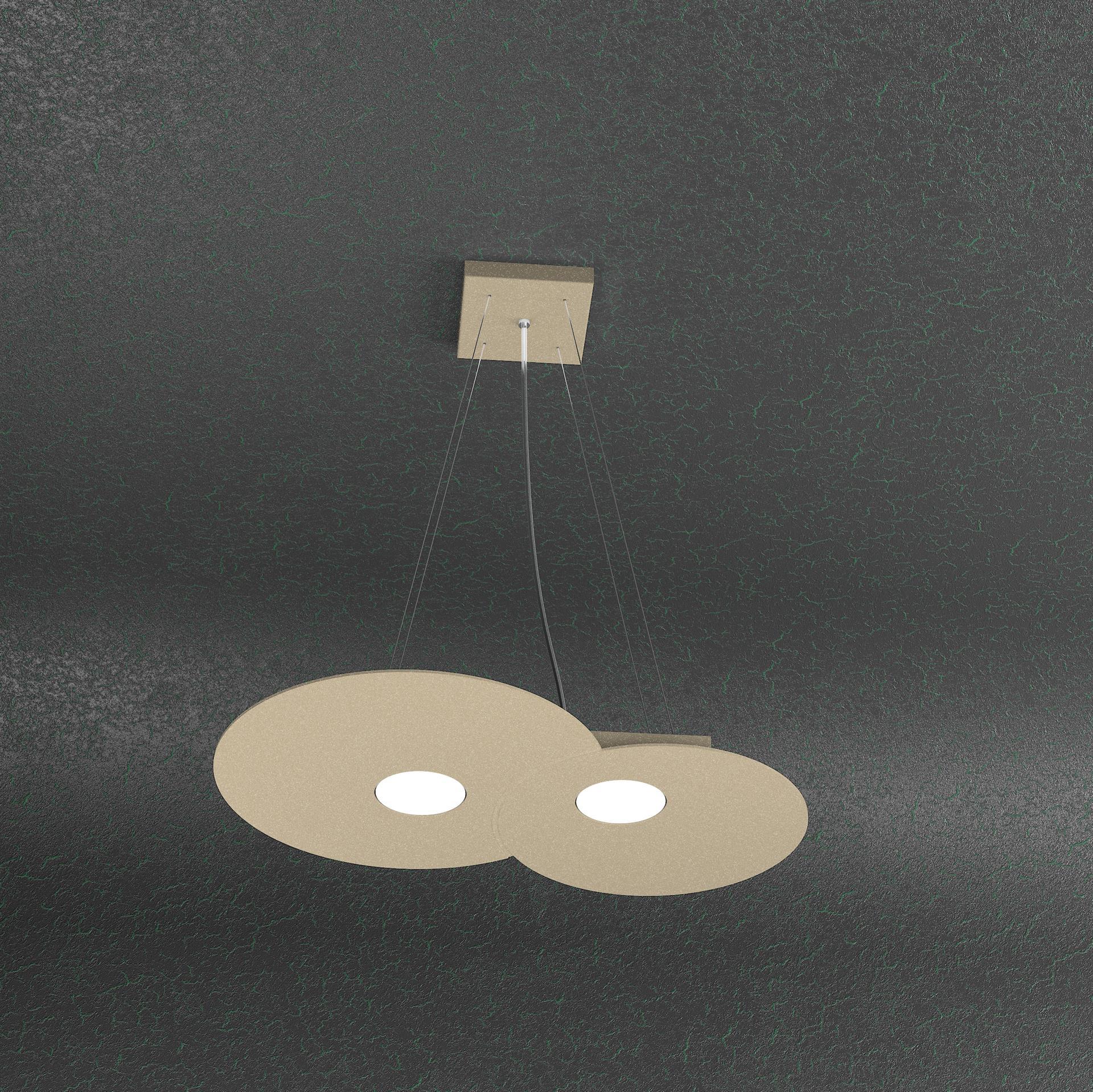 TOP LIGHT CLOUD SABBIA LAMPADARIO DA CUCINA 2 LUCI LED DESIGN ...