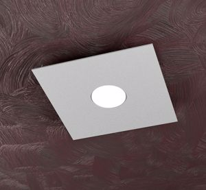 AREA TOP LIGHT PICCOLA PLAFONIERA QUADRATA DA SOFFITTO LED METALLO GRIGIO