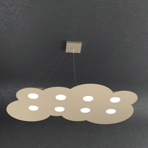 LAMPADARIO MODERNO 8 LED SABBIA CLOUD TOP LIGHT