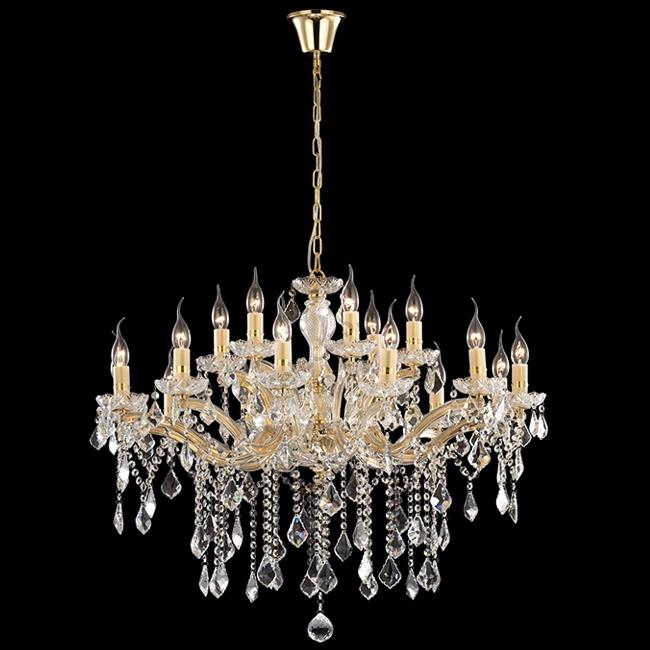 Lampadari In Cristallo Classici.Lampadario Da Salone Classico Cristallo Metallo Oro 18 Luci Per Soffitti Alti