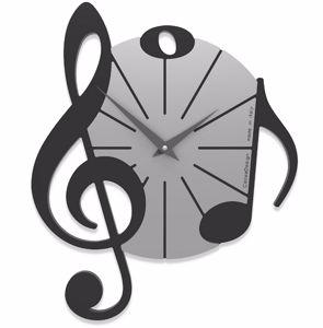 CALLEA DESIGN VIVALDI OROLOGIO MUSICALE DA PARETE MODERNO LEGNO NERO GRIGIO