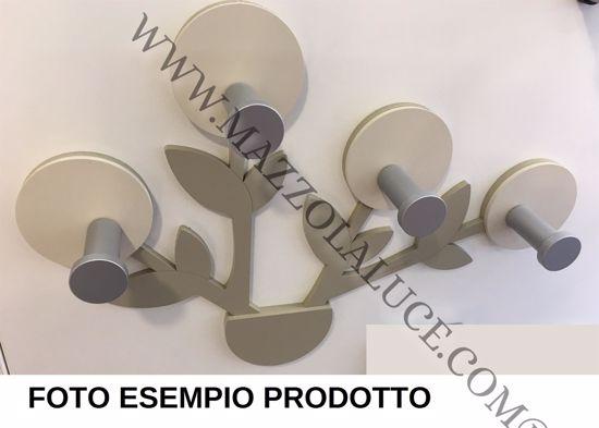 APPENDIABITI PARTICOLARE DA PARETE PER INGRESSO DESIGN LEGNO BIANCO GRIGIO