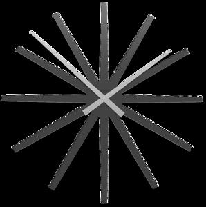 CALLEA DESIGN FRIZZ OROLOGIO DA PARETE MODERNO 81CM NERO GRIGIO IN LEGNO