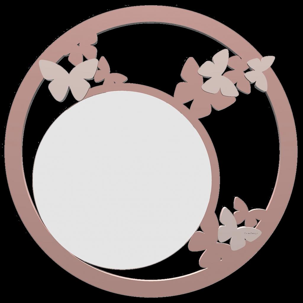 Specchio Bagno A Farfalla.Callea Design Moderno Specchio Da Parete Farfalla Rosa Nuvola In Legno Taglio Laser