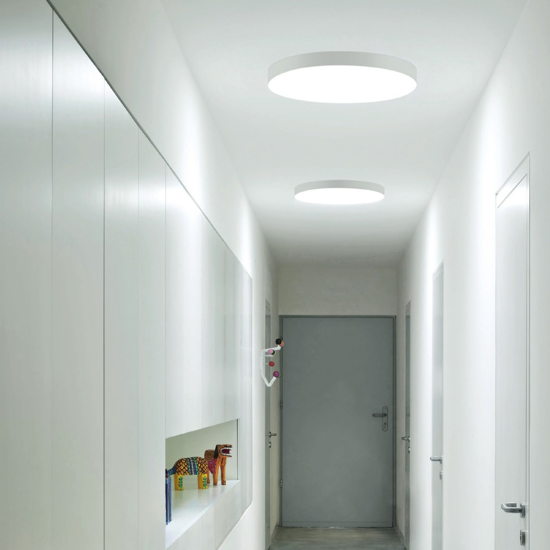 LINEA LIGHT BOX PLAFONIERA LED 25W 3000K GRIGIO CEMENTO