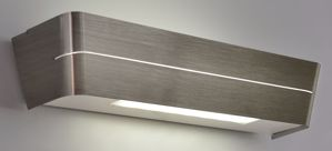 APPLIQUE MODERNO LED 14W 3000K METALLO NICKEL DESIGN PER INTERNI