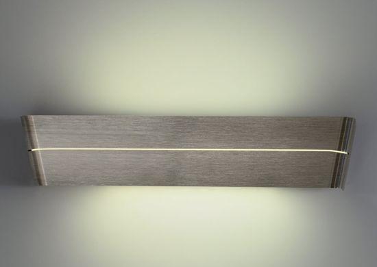 APPLIQUE MODERNO LED 14W 3000K METALLO NICKEL DESIGN PER INTERNI