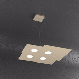 LAMPADARIO PER CUCINA MODERNA LAMPADINE LED GX53 SABBIA TORTORA TOPLIGHT PLATE
