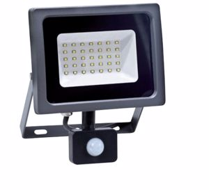 APPLIQUE DA ESTERNO FARO CON SENSORE DI MOVIMENTO IP65 LED 30W 6500K