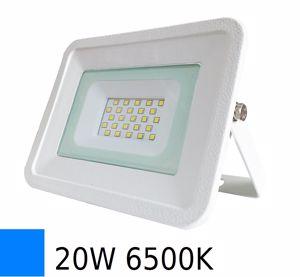 APPLIQUE DA ESTERNO PROIETTORE IP65 LED 20W 6500K SLIM BIANCO
