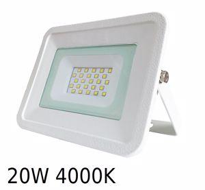 APPLIQUE DA ESTERNO PROIETTORE LED IP65 20W 4000K SLIM BIANCO PROMOZIONE FINE SCORTE