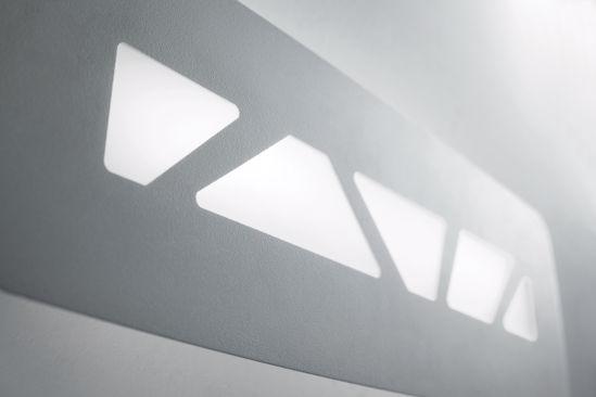 APPLIQUE LED PER INTERNI LINEA LIGHT ZED METALLO BIANCO