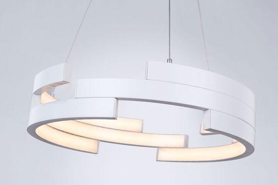 LAMPADARIO BIANCO DESIGN PER SOGGIORNO MODERNO LED 94W 3000K 55CM